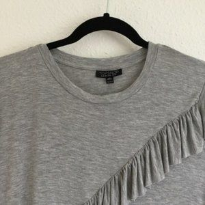 Topshop Tops - 2/$25 Topshop Long Sleeve Grey Top Size Small